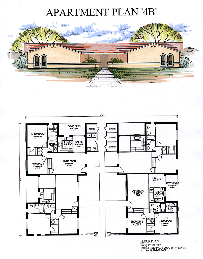 Apartments4b for Apartment plans 4 plex