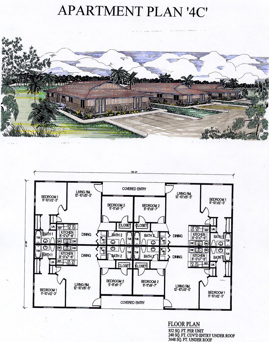 Apartment Plan 4-C, Fentonmill